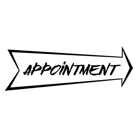 APPOINTMENT stamp on white background