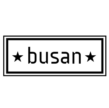 BUSAN stamp on white background