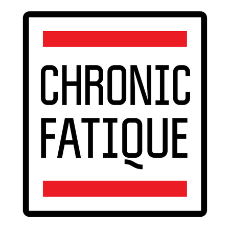 CHRONIC FATIQUE stamp on white background