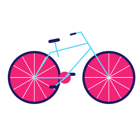 Bicycle geometric illustration isolated on background