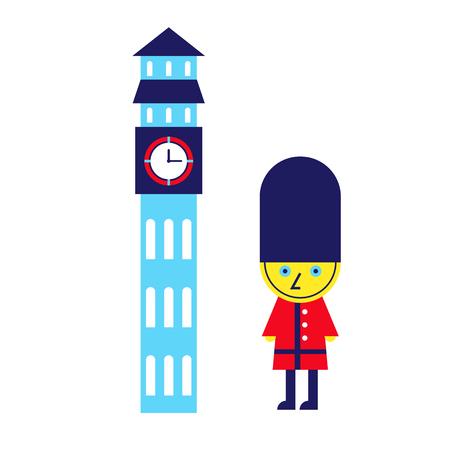 Royal guard geometric illustration isolated on background Иллюстрация
