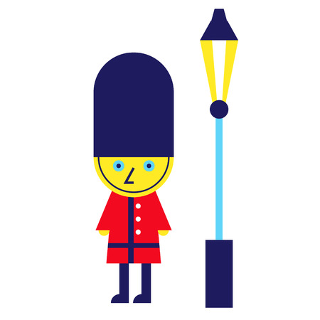 Royal guard geometric illustration isolated on background Illustration