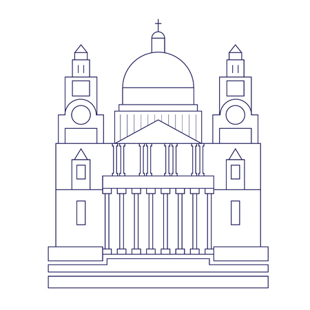 St. Paul cathedral geometric illustration isolated on background