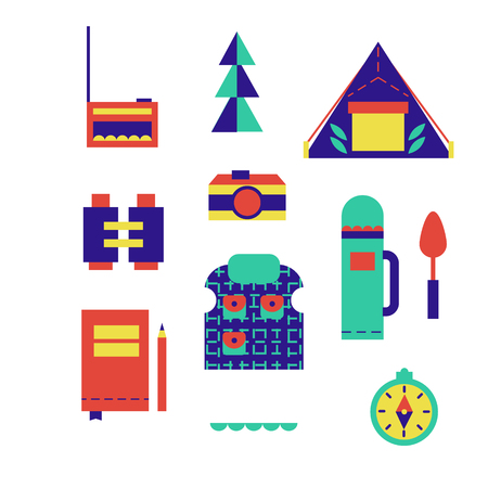 Hiking pattern geometric illustration isolated on background Vectores