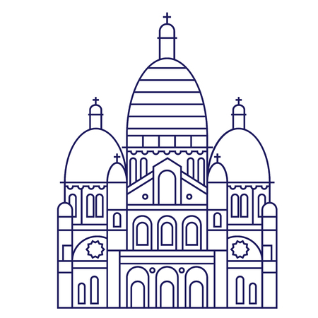 St. Paul Cathedral geometric illustration isolated on background Illustration
