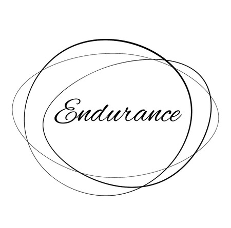 ENDURANCE stamp on white background