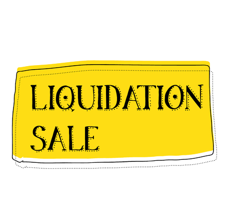 LIQUIDATION SALE stamp on white background