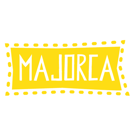 MAJORCA stamp on white background