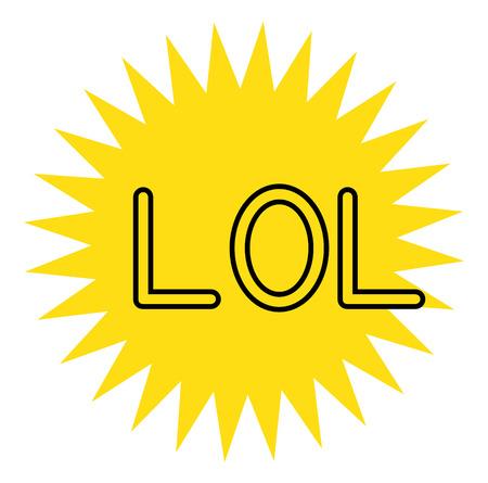 LOL stamp on white background Stock fotó - 124008089