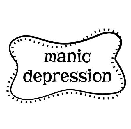 MANIC DEPRESSION stamp on white background