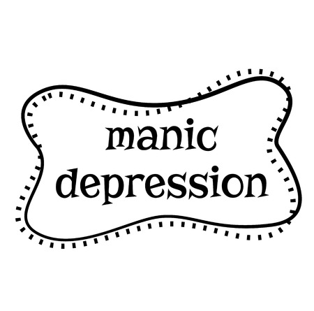 MANIC DEPRESSION stamp on white background