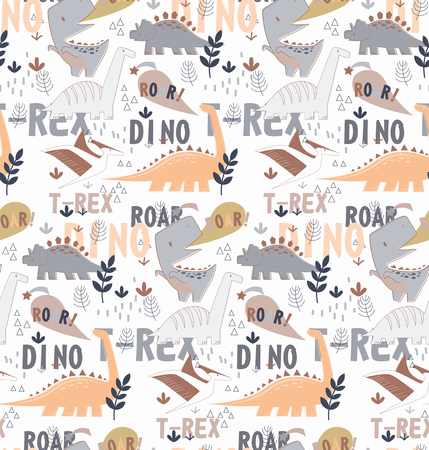 Dino pattern seamless cartoon design