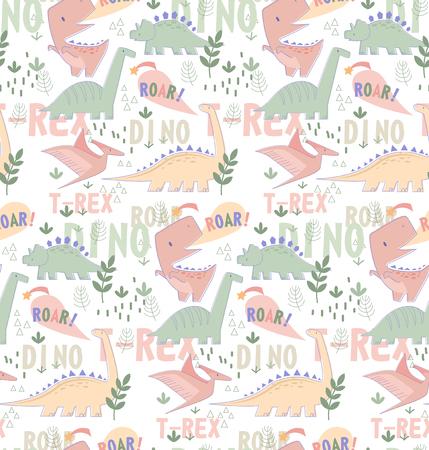 Dino pattern seamless cartoon design