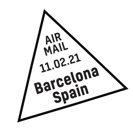 BARCELONA, SPAIN mail delivery stamp