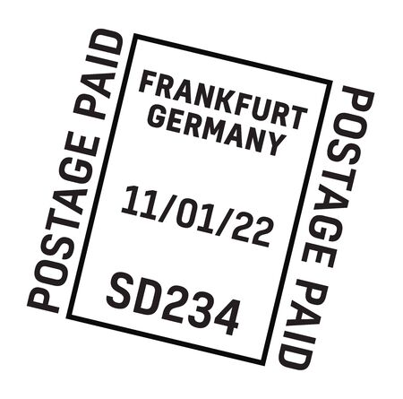 FRANKFURT, GERMANY mail delivery stamp