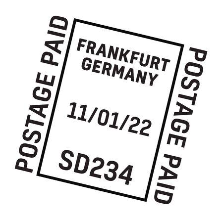FRANKFURT, GERMANY mail delivery stamp Vetores