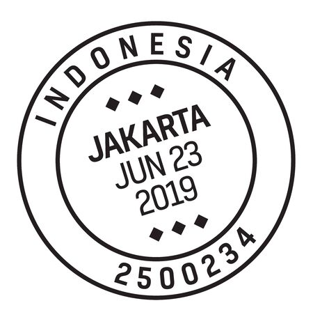 JAKARTA, INDONESIA mail delivery stamp