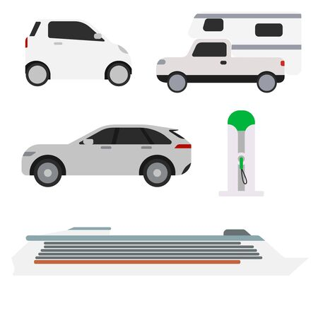 Car pattern flat illustration design 向量圖像