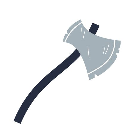 Axe flat illustration on white