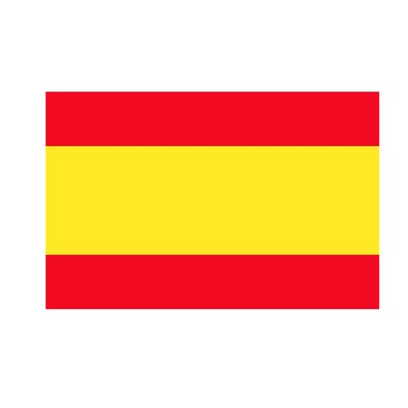 Spain flag flat illustration on white