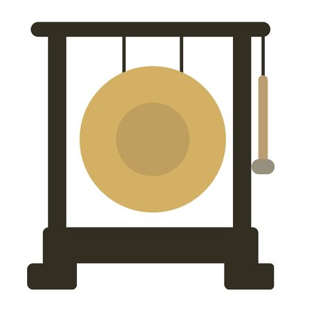 Gong flat illustration on white