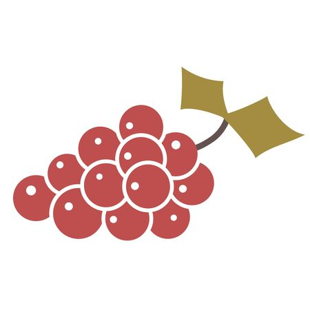 Grapes flat illustration on white