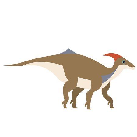 Dinosaur flat illustration on white Illustration