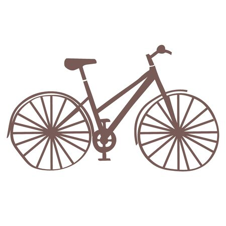 Bicycle flat illustration on white