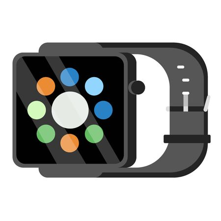 Smart watch flat illustration design