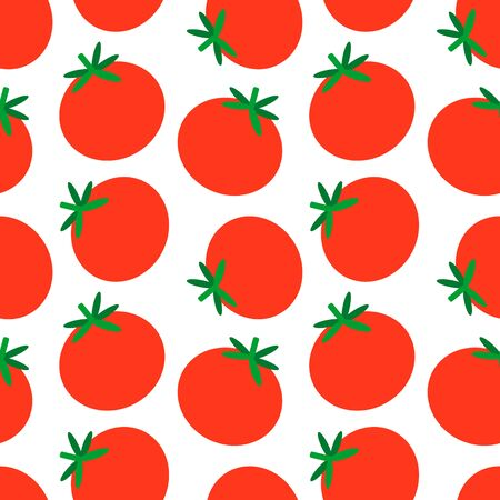 Tomato pattern flat illustration design