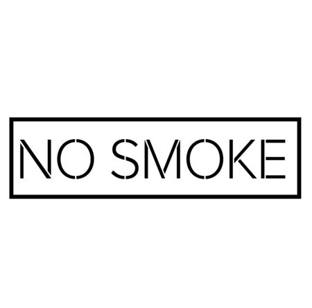 NO SMOKE black stamp on white Stock Illustratie
