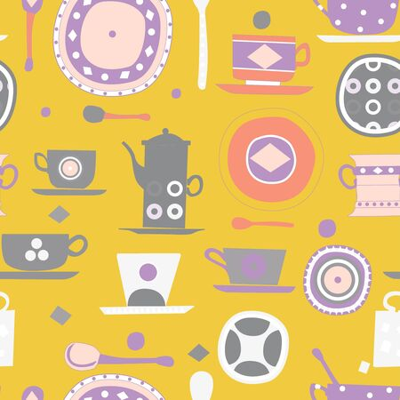 kitchen pattern seamless design graphic Ilustrace