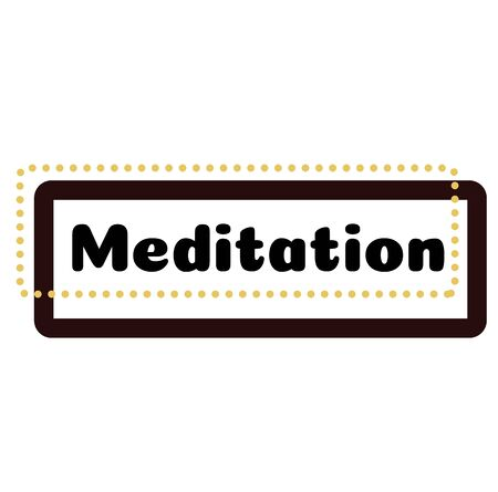 MEDITATION stamp on white background. Labels and stamps series.  イラスト・ベクター素材
