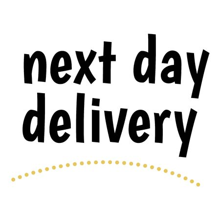 NEXT DAY DELIVERY stamp on white background. Labels and stamps series. Ilustração