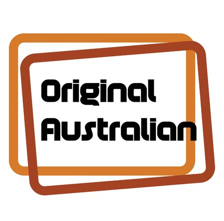 ORIGINAL AUSTRALIAN stamp on white background. Labels and stamps series.