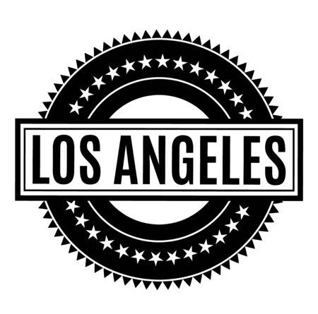 LOS ANGELES stamp on white background. Stickers and stamps series.