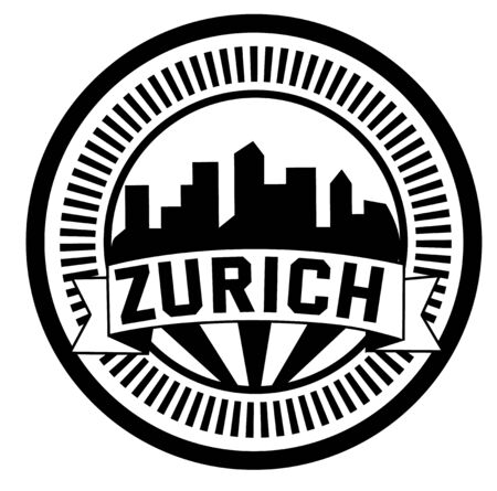 ZURICH stamp on white background. Stickers and stamps series. Illustration
