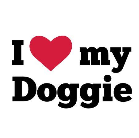 I love my doggie , illustration on white background Vector Illustration