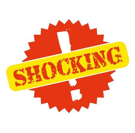 SHOCKING stamp on white background  イラスト・ベクター素材