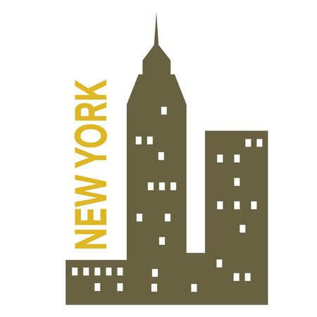 New York simple illustration on white background. City life and travel series.