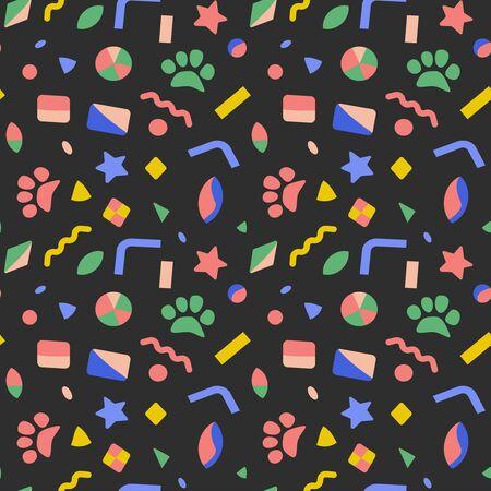 Abstract pattern flat color seamless design illustration Ilustração