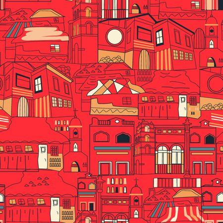 Mexican pattern seamless design graphic Ilustração