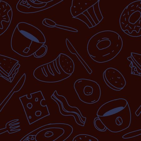 Kitchen pattern seamless design. Decoration textile and paper series Archivio Fotografico - 127915959