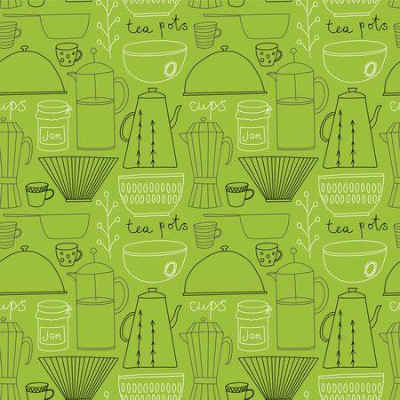 Kitchen pattern seamless design graphic Ilustração