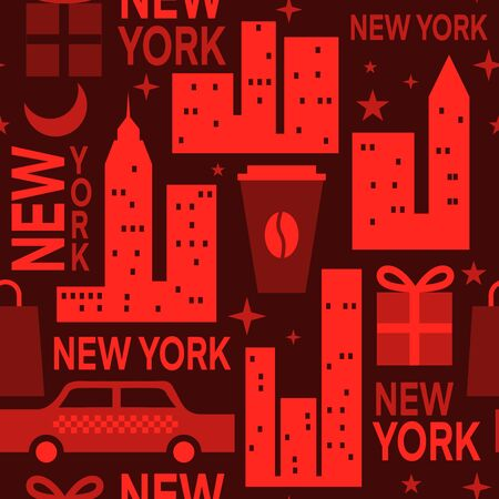 New York pattern seamless design graphic