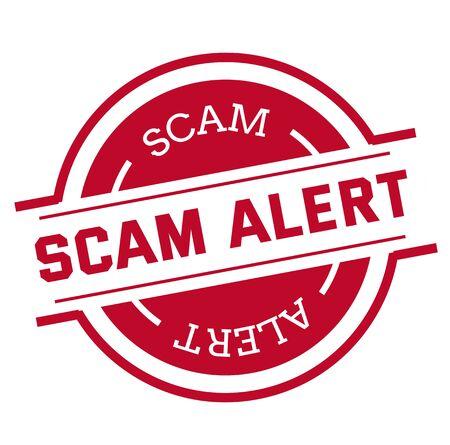 SCAM ALERT stamp isolated on white 免版税图像 - 128532539