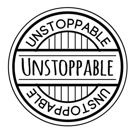 UNSTOPPABLE stamp isolated on white