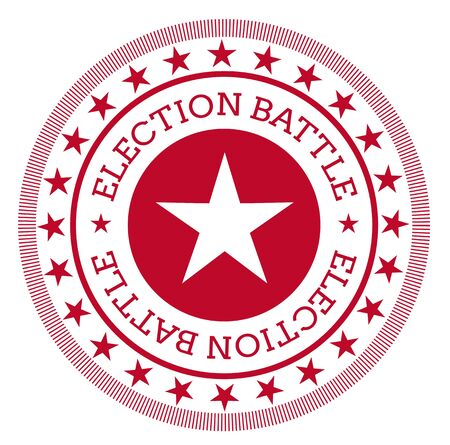 ELECTION BATTLE stamp isolated on white