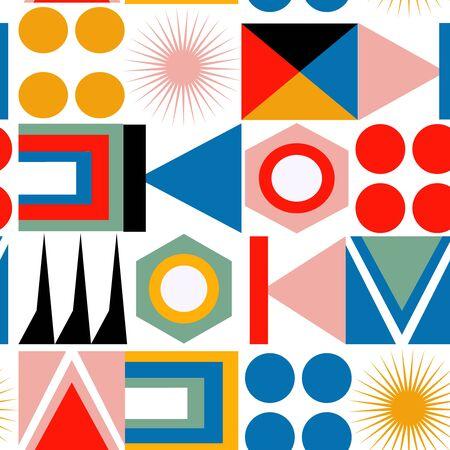 abstract geometric pattern seamless design illustration Ilustração