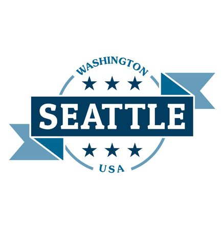 Seattle Washington USA vintage inspiration sign or clothing label